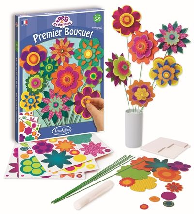 Coffret art creation fleurs en papier - Creation papier crepon facile ...