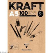 BLOC KRAFT BRUN 90GRS A5