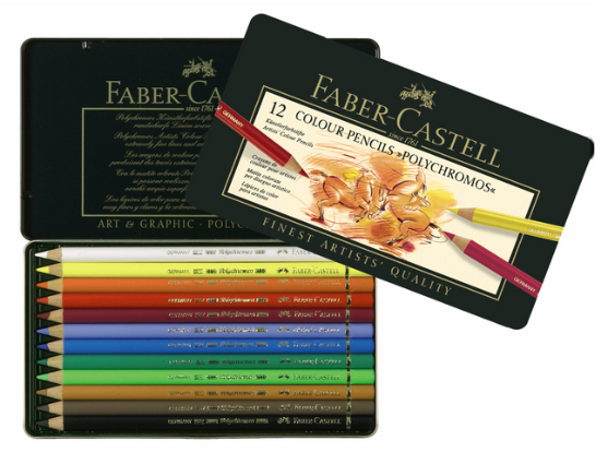 12 crayons polychromos 1