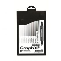 GRAPHIT SET 12 MARQUEURS NEUTRAL GREY COLOR