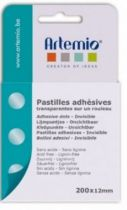 PASTILLES ADHESIVES TRANSPARENTES 200*12MM