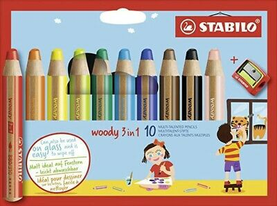 10 CRAYONS WOODY + 1 TAILLE CRAYON