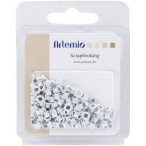 100 OEILLETS BLANC 5MM