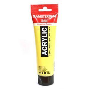 ACRYL AMSTERDAM 120ML JAUNE TIT NICKEL