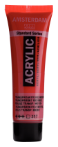 ACRYLIQUE AMSTERDAM 20ML ROUGE TRANSPARENT MOYEN