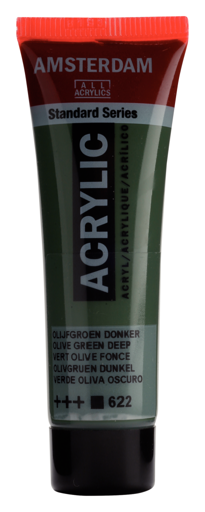 ACRYLIQUE AMSTERDAM 20ML VERT OLIVE FONCE