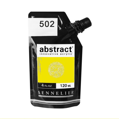ACRYLIQUE FINE ABSTRACT 120ML JAUNE FLUO