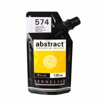 ACRYLIQUE FINE ABSTRACT 120ML JAUNE PRIMAIRE