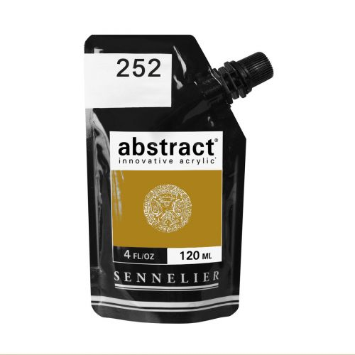 ACRYLIQUE FINE ABSTRACT 120ML OCRE JAUNE