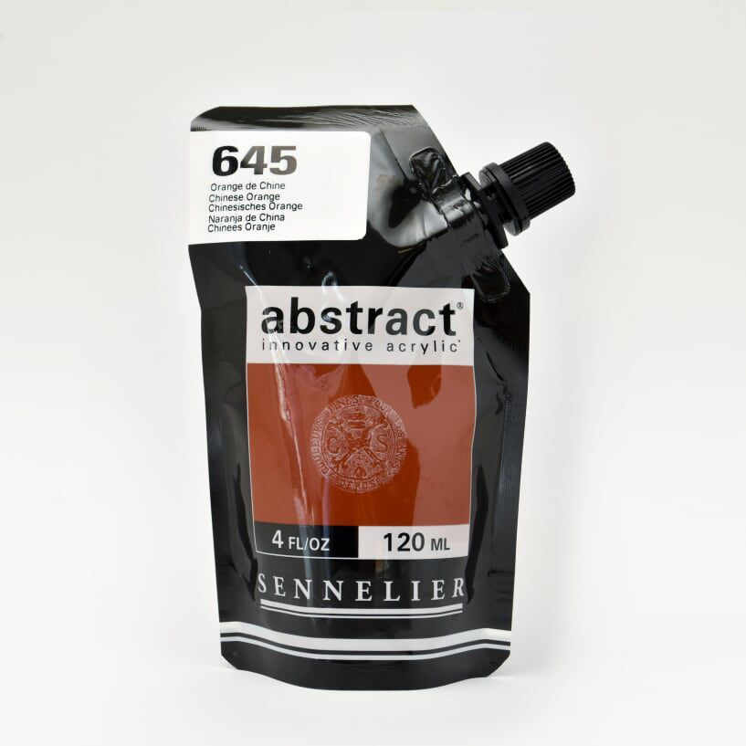 ACRYLIQUE FINE ABSTRACT 120ML ORANGE DE CHINE