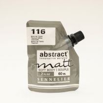 ACRYLIQUE FINE ABSTRACT MATT 60ML BLANC DE TITANE