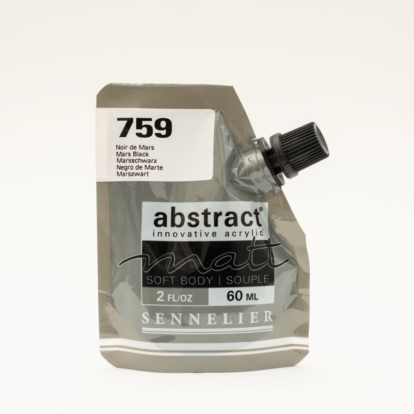 ACRYLIQUE FINE ABSTRACT MATT 60ML NOIR DE MARS