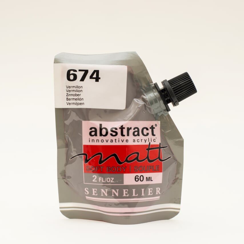 ACRYLIQUE FINE ABSTRACT MATT 60ML VERMILLON