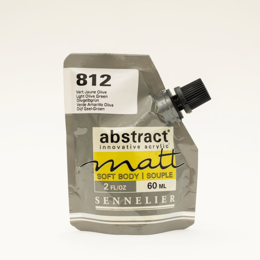 ACRYLIQUE FINE ABSTRACT MATT 60ML VERT JAUNE OLIVE