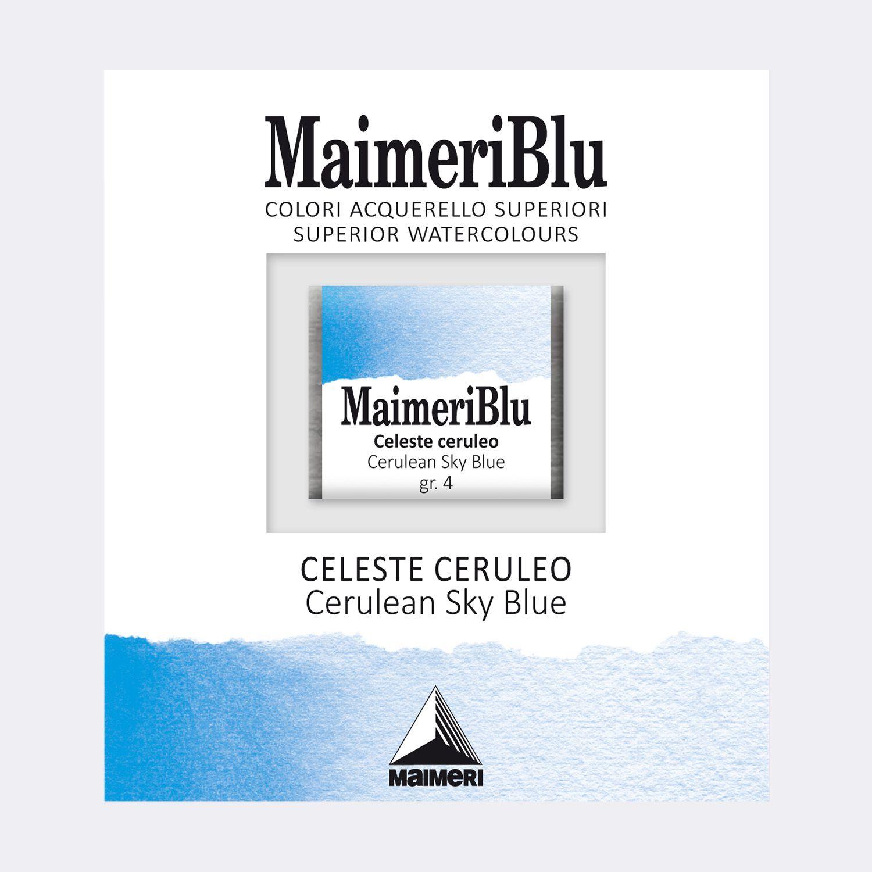 AQUARELLE 1/2 GODET MAIMERI BLU BLEU CIEL CERULEUM