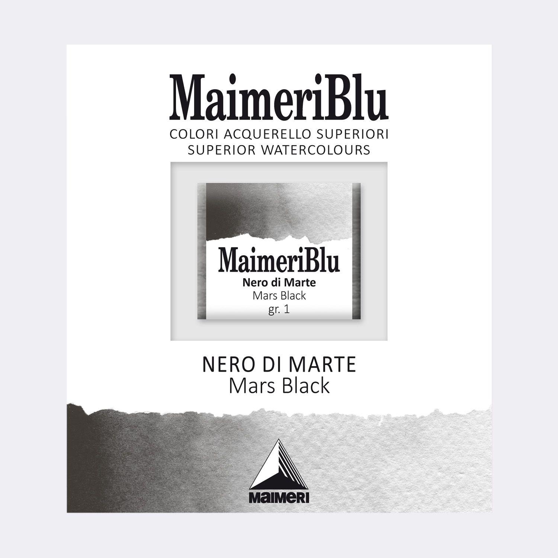 AQUARELLE 1/2 GODET MAIMERI BLU NOIR DE MARS