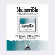AQUARELLE 1/2 GODET MAIMERI BLU TURQUOISE PHTHALOCYANINE