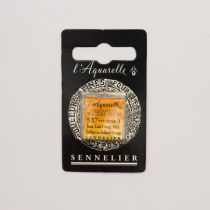 AQUARELLE 1/2 GODET SENNELIER JAUNE CADMIUM ORANGE VERITABLE S4