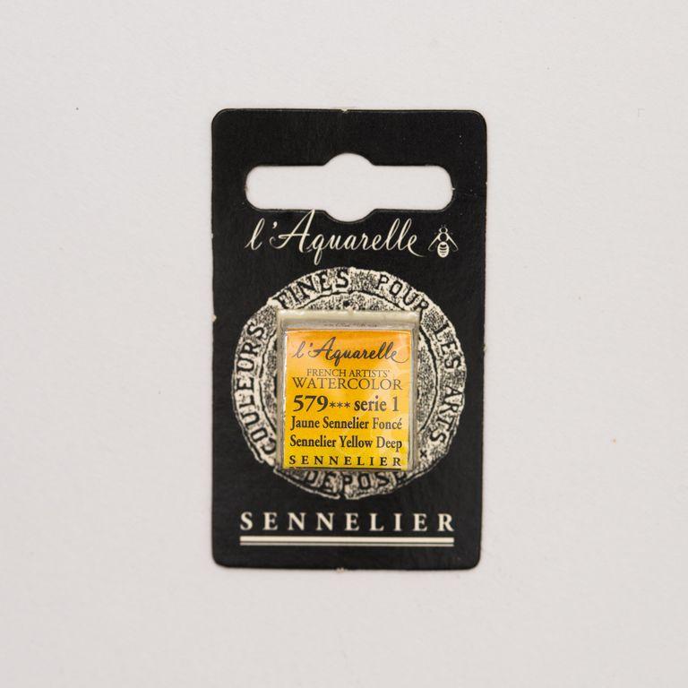 AQUARELLE 1/2 GODET SENNELIER JAUNE SENNELIER FONCE S1
