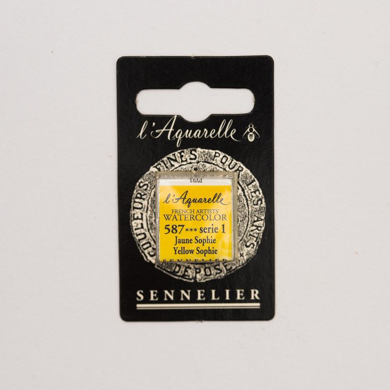 AQUARELLE 1/2 GODET SENNELIER JAUNE SOPHIE S1
