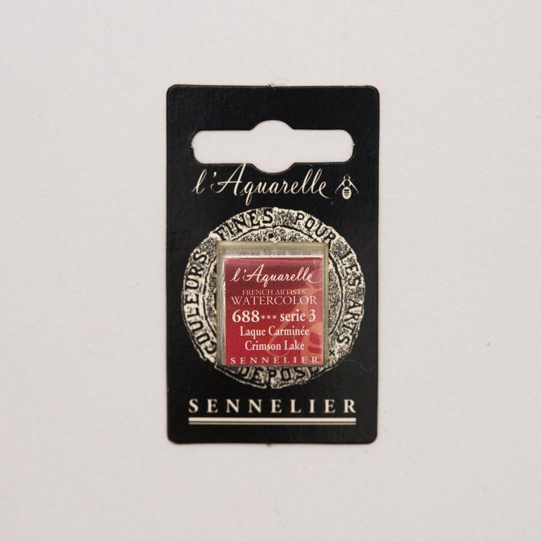 AQUARELLE 1/2 GODET SENNELIER LAQUE CARMINEE S3