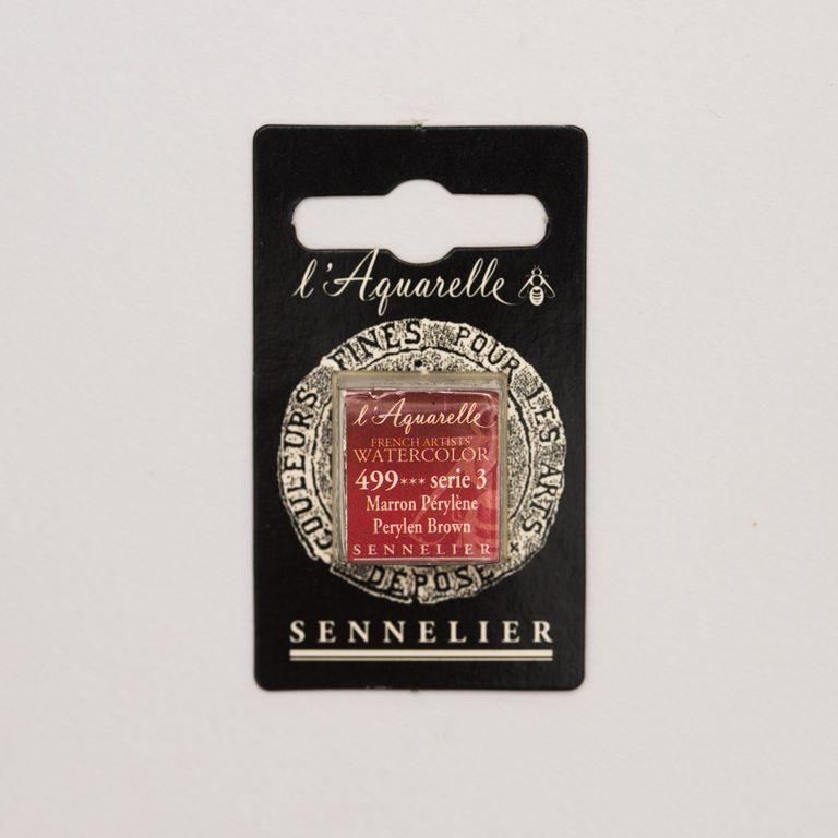 AQUARELLE 1/2 GODET SENNELIER MARRON PERYLENE S3