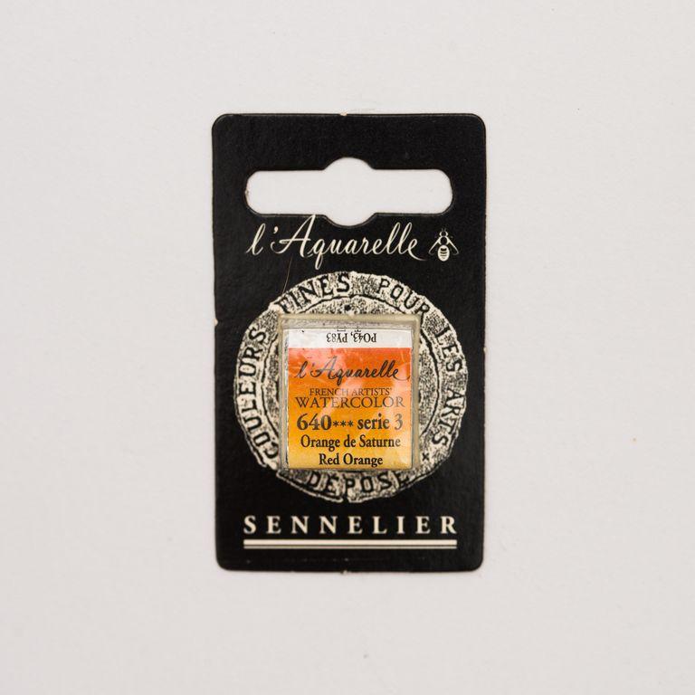 AQUARELLE 1/2 GODET SENNELIER ORANGE SATURNE S3