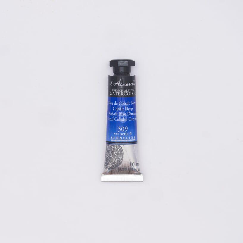 AQUARELLE 10ML SENNELIER BLEU COBALT FONCE S4