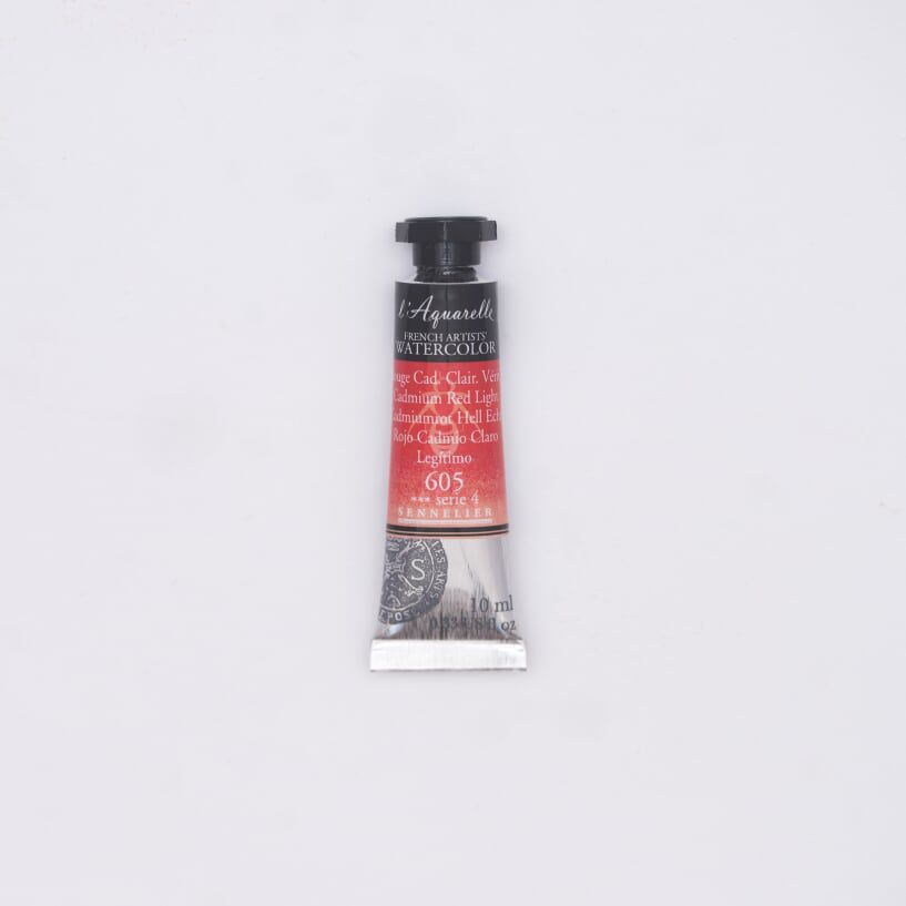 AQUARELLE 10ML SENNELIER ROUGE CADMIUM CLAIR S4