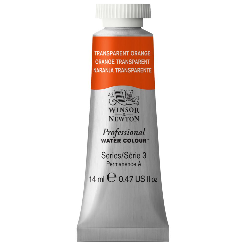 AQUARELLE 14ML W&N ORANGE TRANSPARENT