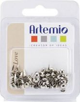 ATTACHES PARISIENNE ARGENT 3MM X100