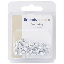 ATTACHES PARISIENNE BLANCHE 3MM X100