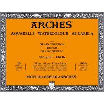 BLOC AQUARELLE 31X41CM ARCHES GRAIN TORCHON 300GRS 20 FEUILLES