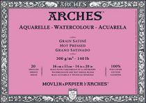 BLOC AQUARELLE 36X51CM ARCHES GRAIN SATINE 300GRS 20 FEUILLES