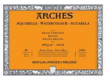 BLOC AQUARELLE 36X51CM ARCHES GRAIN TORCHON 300GRS 20 FEUILLES