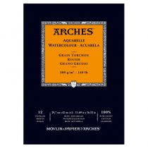 BLOC AQUARELLE A3 ARCHES GRAIN TORCHON 300GRS