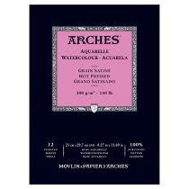 BLOC AQUARELLE A4 ARCHES GRAIN SATINE 300GRS