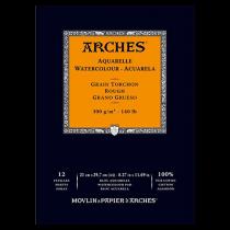 BLOC AQUARELLE A4 ARCHES GRAIN TORCHON 300GRS