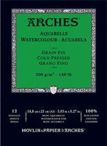 BLOC AQUARELLE A5 ARCHES GRAIN FIN 300GRS