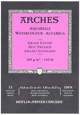 BLOC AQUARELLE A5 ARCHES GRAIN SATINE 300GRS