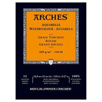 BLOC AQUARELLE A5 ARCHES GRAIN TORCHON 300GRS