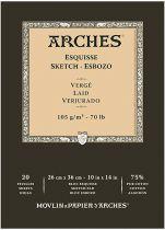 BLOC ARCHES ESQUISSE GRAIN VERGE 105GRS 26X36CM