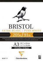 BLOC BRISTOL A3 205GR BLANC