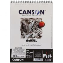 BLOC CANSON THE WALL 200GRS A4 30FEUILLES