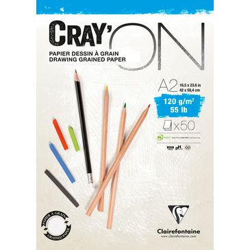 BLOC CRAY\'ON ENCOLLE A2 120GRS