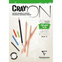 BLOC CRAY\'ON ENCOLLE A2 160GRS