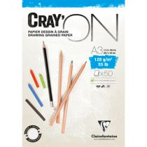 BLOC CRAY\'ON ENCOLLE A3 120GRS
