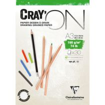 BLOC CRAY\'ON ENCOLLE A3 160GRS