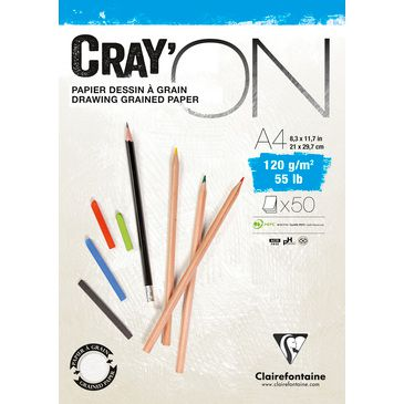 BLOC CRAY\'ON ENCOLLE A4 120GRS