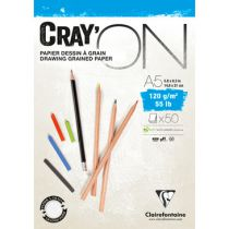 BLOC CRAY\'ON ENCOLLE A5 120GRS